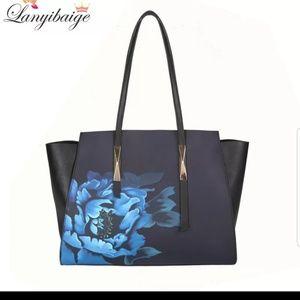Black Shoulder Tote Bag